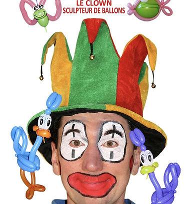 Clown et sculpteur sur ballons