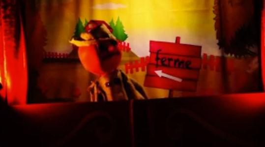"""Spectacle de grandes marionnettes """" Chloé et les copains de la ferme"""""""