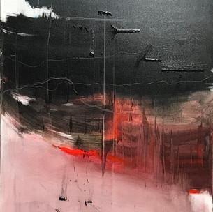 Plane sous la montagne (1er prix de peinture decerné lors du salon AEAF 2020)