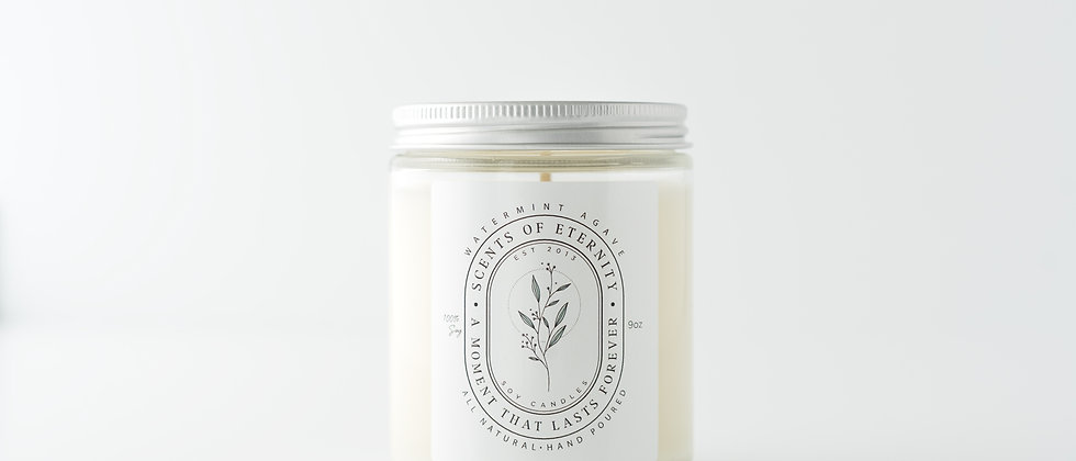 Watermint Agave Soy Candle