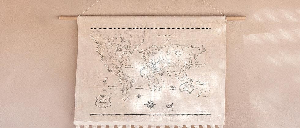 World Atlas Wall Hanging