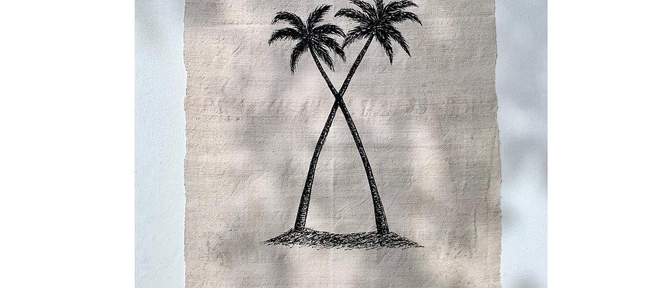 Twin Palms Wall Hanging 1