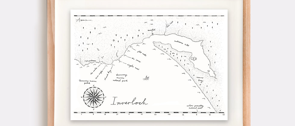 Inverloch Map Illustration Limited Edition Print