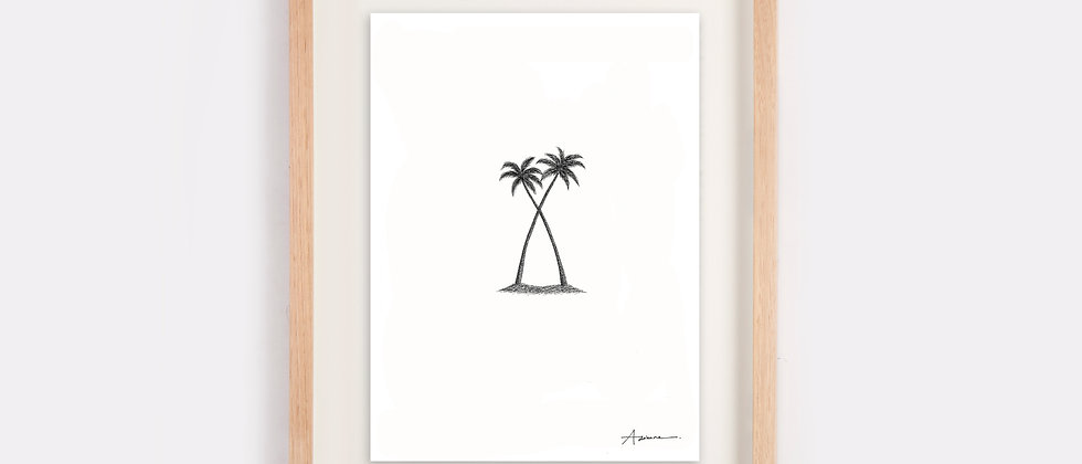 Twin Palms Illustration Limited Edition Print