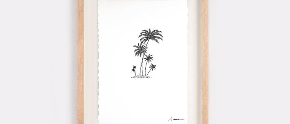 Island of Six Palms Illustration Limited Edition Print