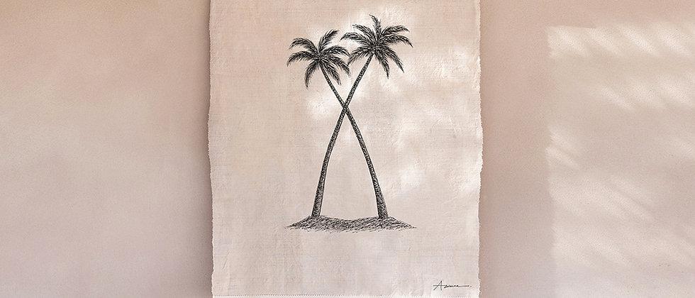 Twin Palms Wall Hanging