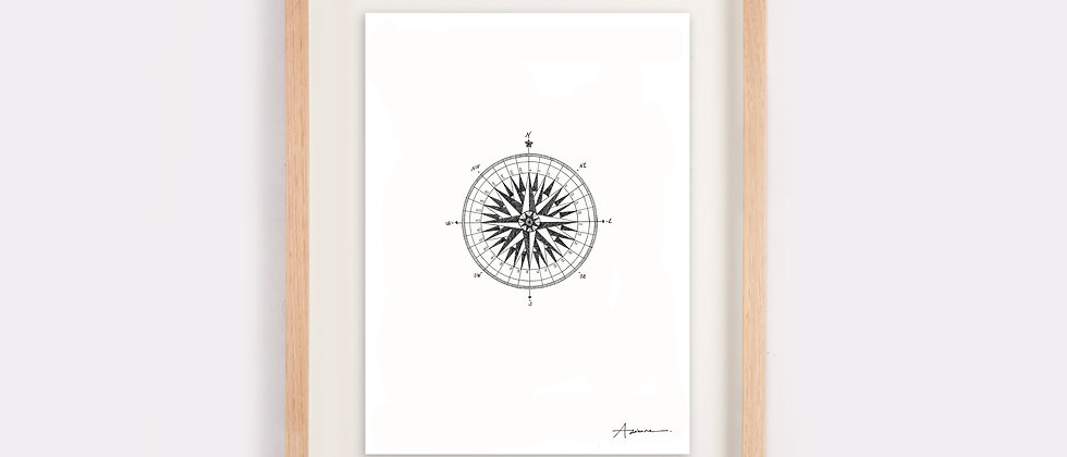 The Compass Illustration Limited Edition Print