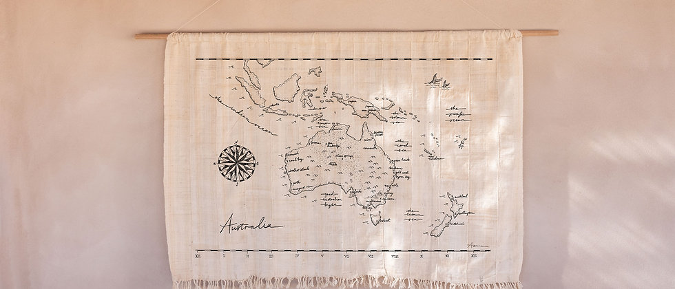 Pre-Order Large Australia Map Wall Hanging