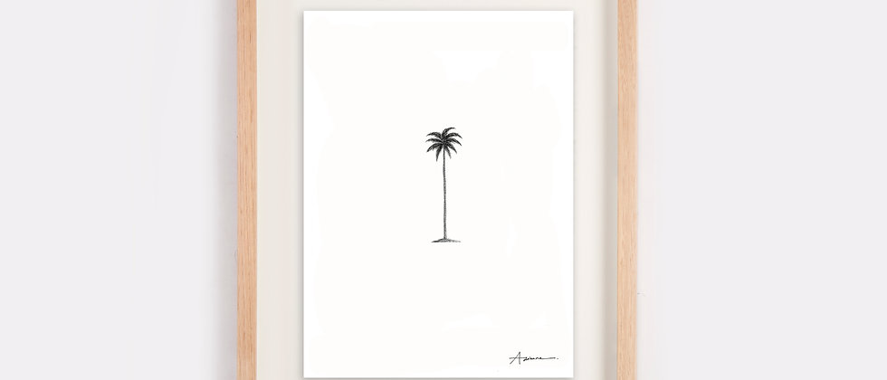 Single Palm Illustration Limited Edition Print