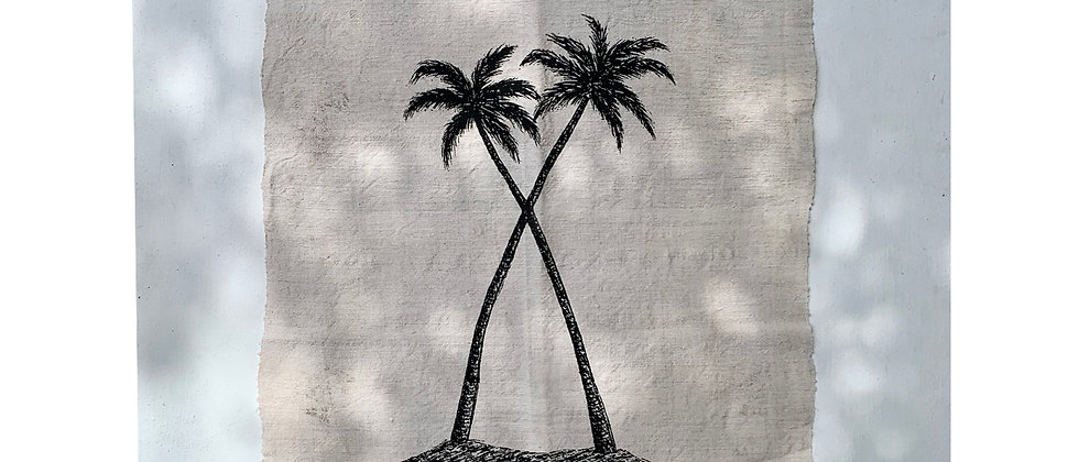 Twin Palms Wall Hanging 2