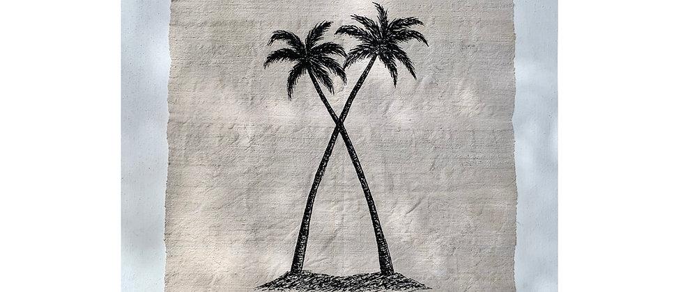 Twin Palms Wall Hanging 4