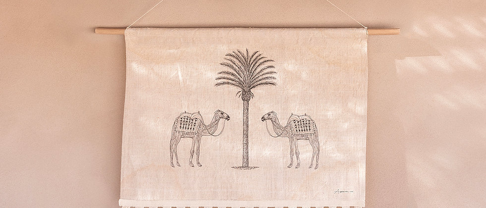 The Camels of Agadir Wall Hanging