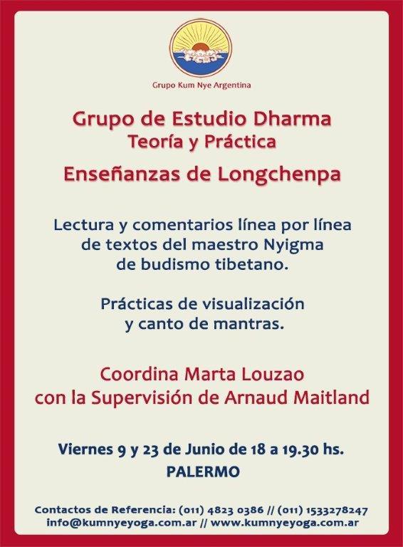 Grupo de Estudio Dharma - Enseñanzas de Longchenpa • Junio 2017