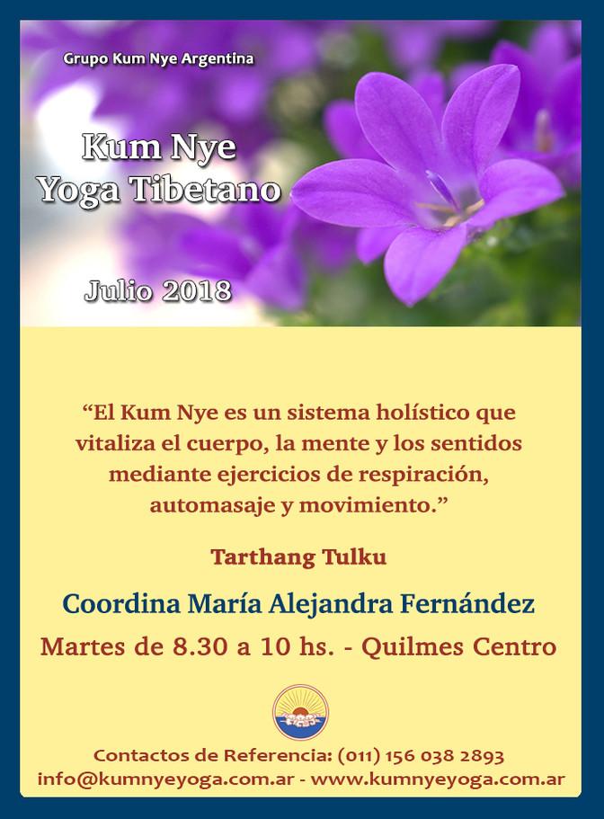Kum Nye - Yoga Tibetano en Quilmes Centro  • Julio 2018