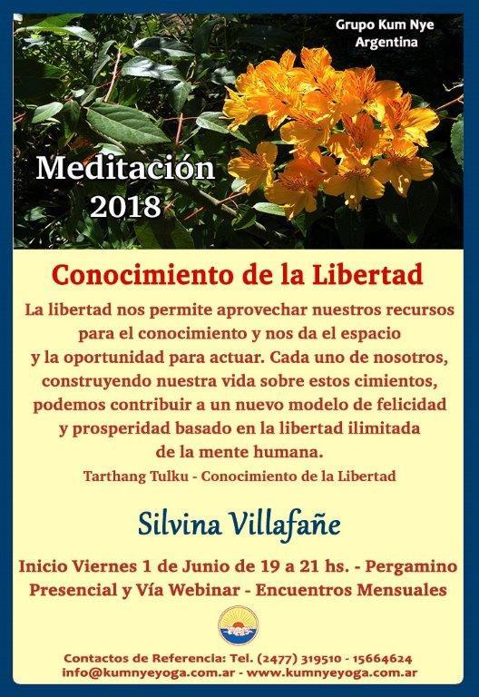 """Meditación """"Conocimiento de la Libertad"""" en Pergamino • Mayo 2018"""
