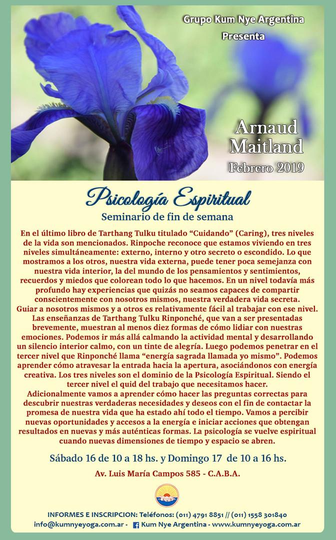 Psicología Espiritual - Arnaud Maitland - Febrero de 2019