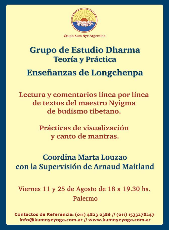 Grupo de Estudio Dharma - Enseñanzas de Longchenpa • Agosto 2017