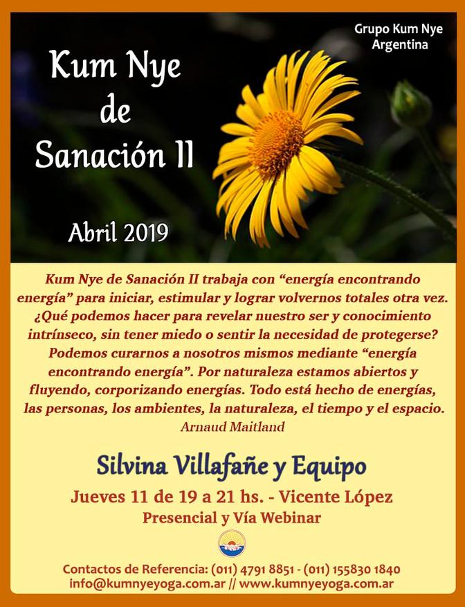 Kum Nye de Sanación II en Vicente López - Abril 2019