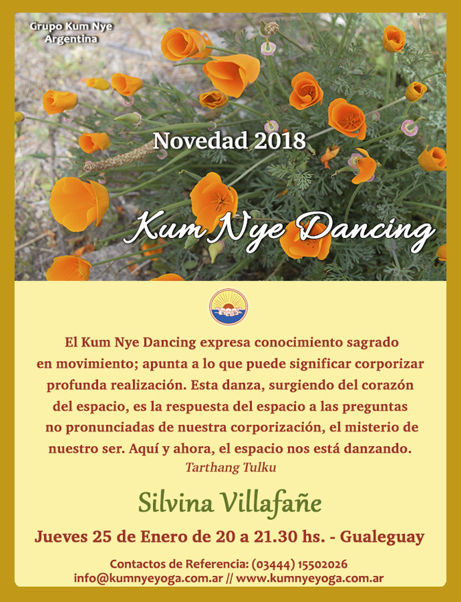 Kum Nye Dancing en Gualeguay • Enero 2018