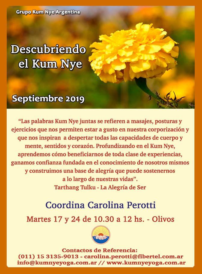 Descubriendo el Kum Nye - Olivos - Septiembre 2019