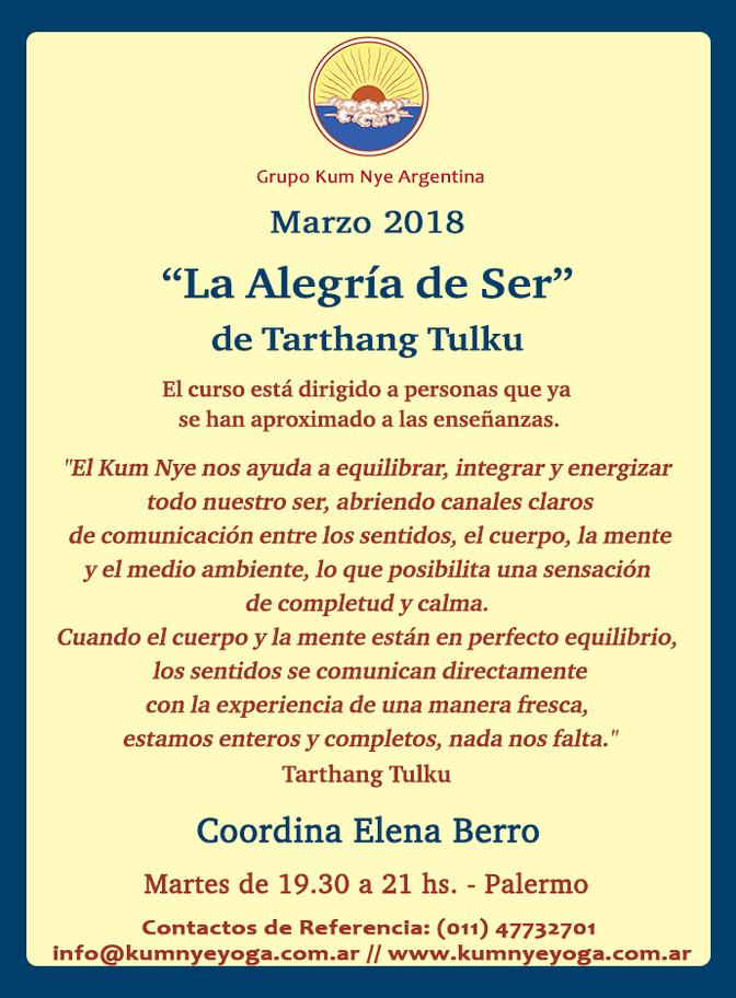 """""""La Alegría de Ser"""" de Tarthang Tulku en Palermo • Marzo 2018"""
