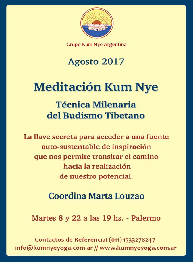 Meditación Kum Nye en Palermo • Agosto 2017