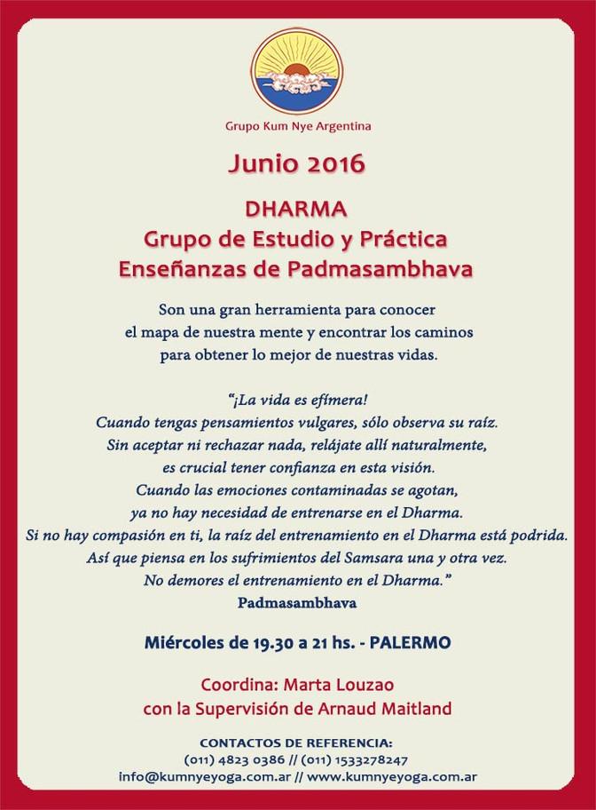 Dharma - Grupo de Estudio y Práctica • Junio 2016