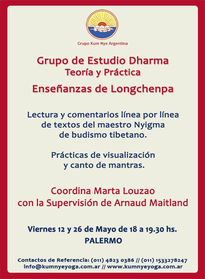 Grupo de Estudio Dharma - Enseñanzas de Longchenpa - Teoría y Práctica • Mayo 2017
