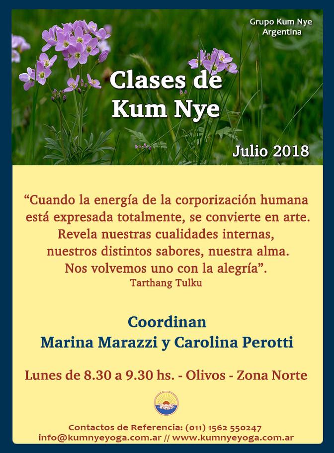 Clases de Kum Nye en Olivos - Zona Norte • Julio 2018