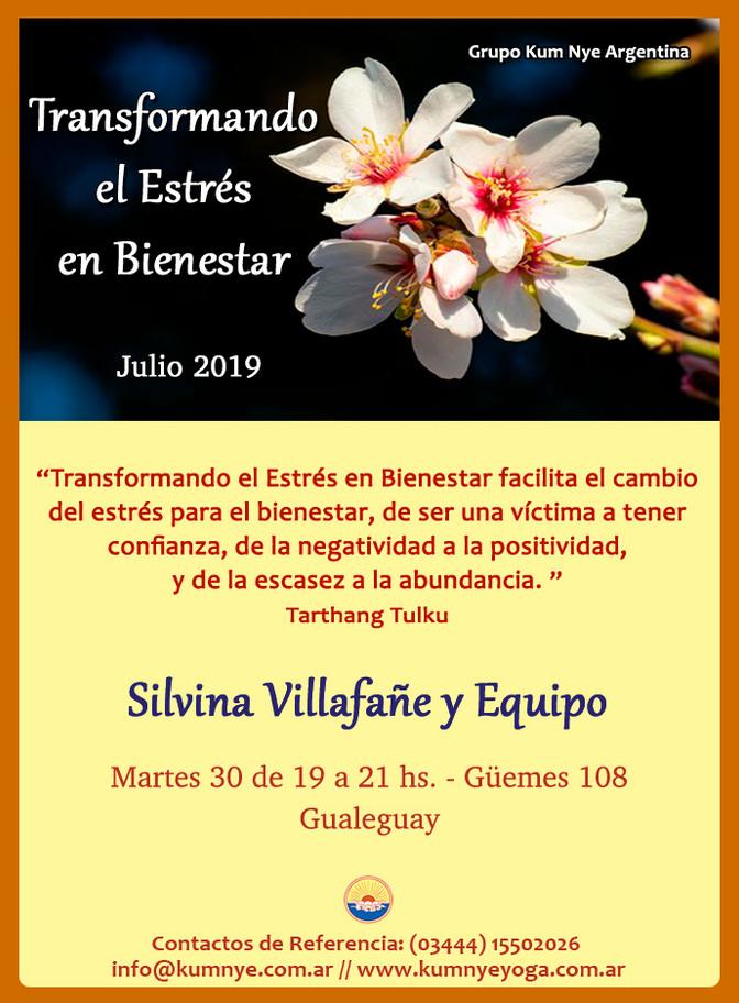 Transformando el Estrés en Bienestar en Gualeguay - Julio 2019