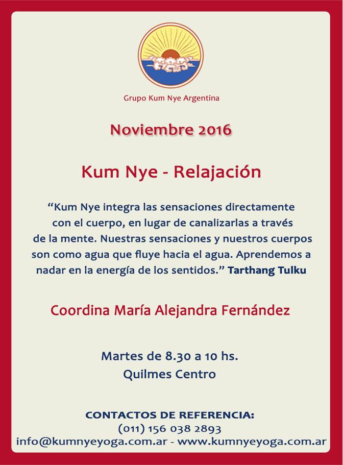 Kum Nye - Relajación en Quilmes Centro •  Noviembre 2016