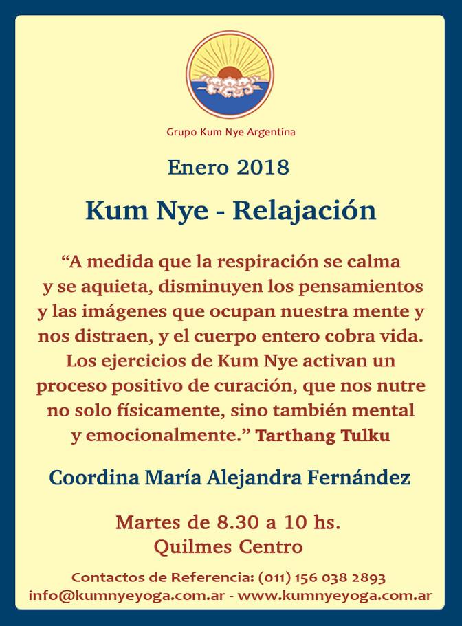 Kum Nye - Relajación en Quilmes Centro • Enero 2018