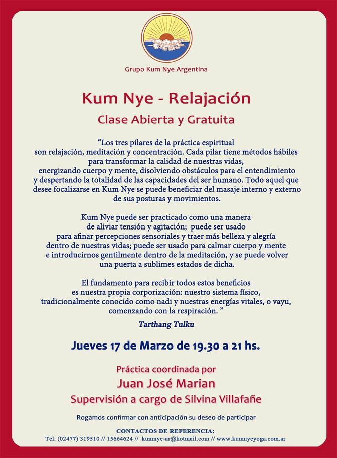 Kum Nye - Relajación en Pergamino • Marzo 2016