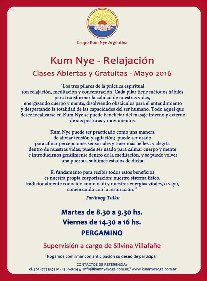 Kum Nye - Relajación en Pergamino • Mayo 2016