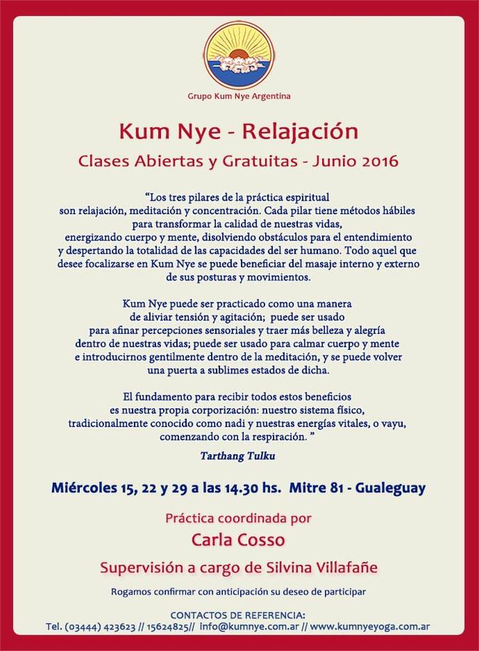 Kum Nye - Yoga Tibetano en Gualeguay • Junio 2016