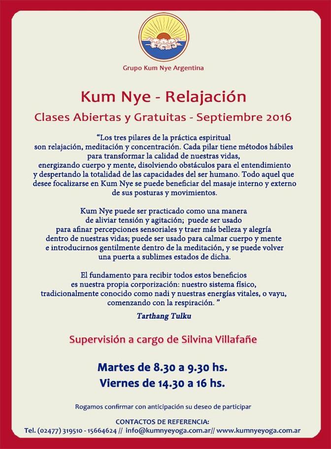 Kum Nye - Relajación en Pergamino •  Septiembre 2016