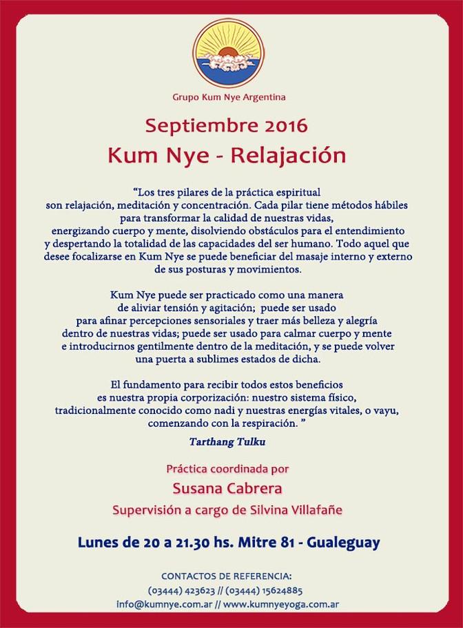 Kum Nye - Relajación en Gualeguay • Septiembre 2016
