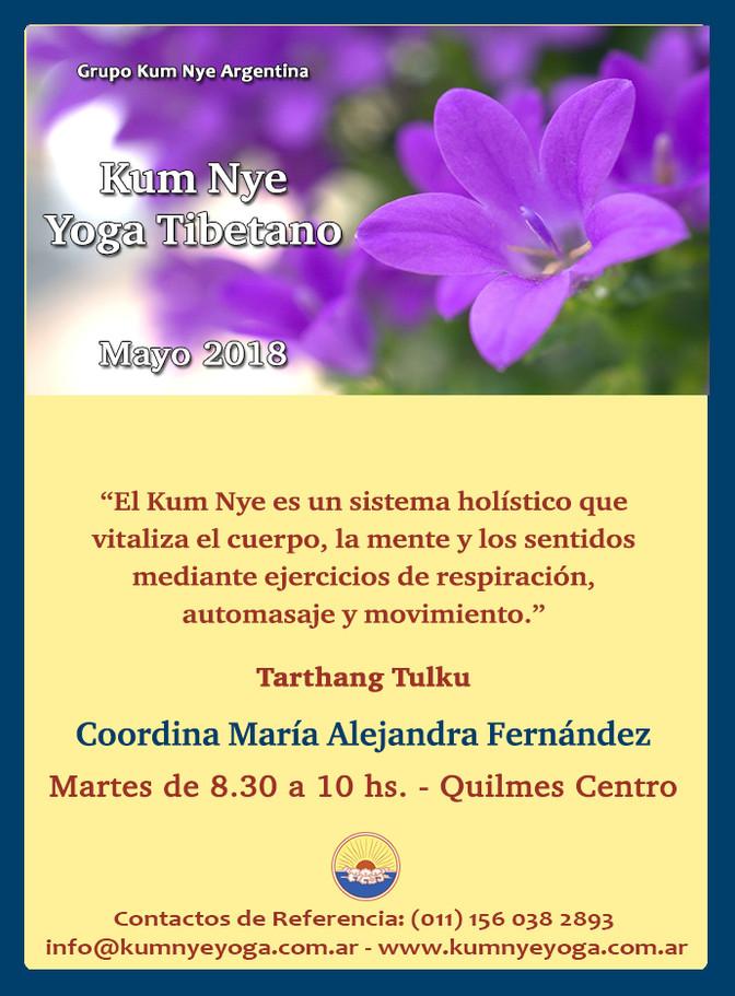 Kum Nye - Yoga Tibetano en Quilmes Centro • Mayo 2018