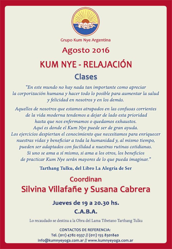 Clases de Kum Nye en Belgrano  • Agosto 2016