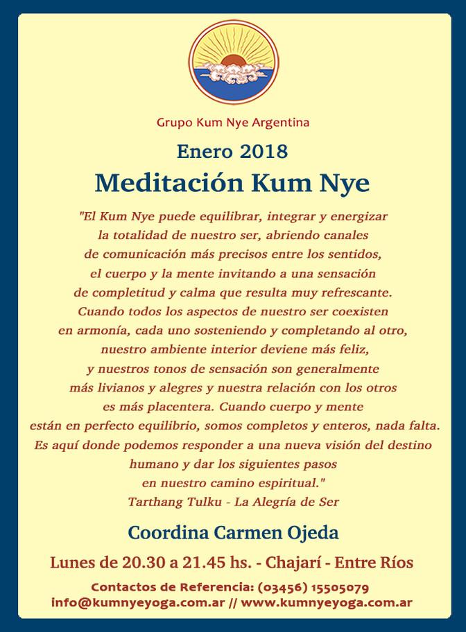 Meditación Kum Nye en Chajarí - Entre Ríos • Enero 2018