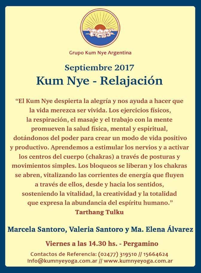 Clases de Kum Nye en Pergamino  • Septiembre 2017