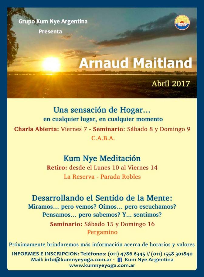 Arnaud Maitland en Argentina • Abril 2017