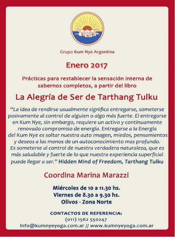 """""""La Alegría de Ser"""" de Tarthang Tulku  • Enero 2017"""