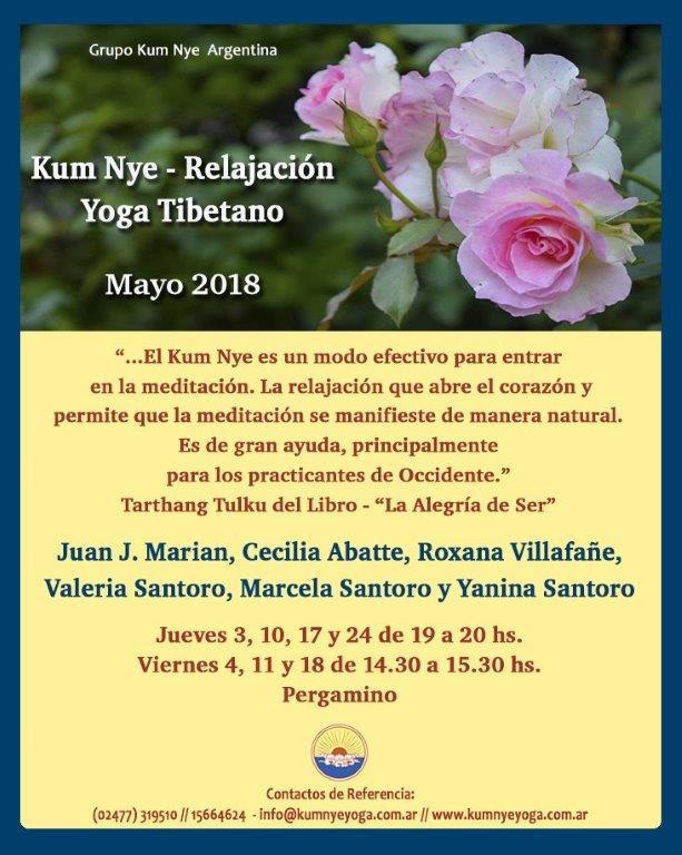 Clases de Kum Nye - Relajación en Pergamino • Mayo 2018
