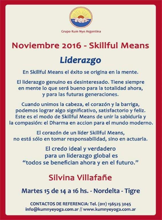 Skillful Means - Liderazgo • Noviembre 2016