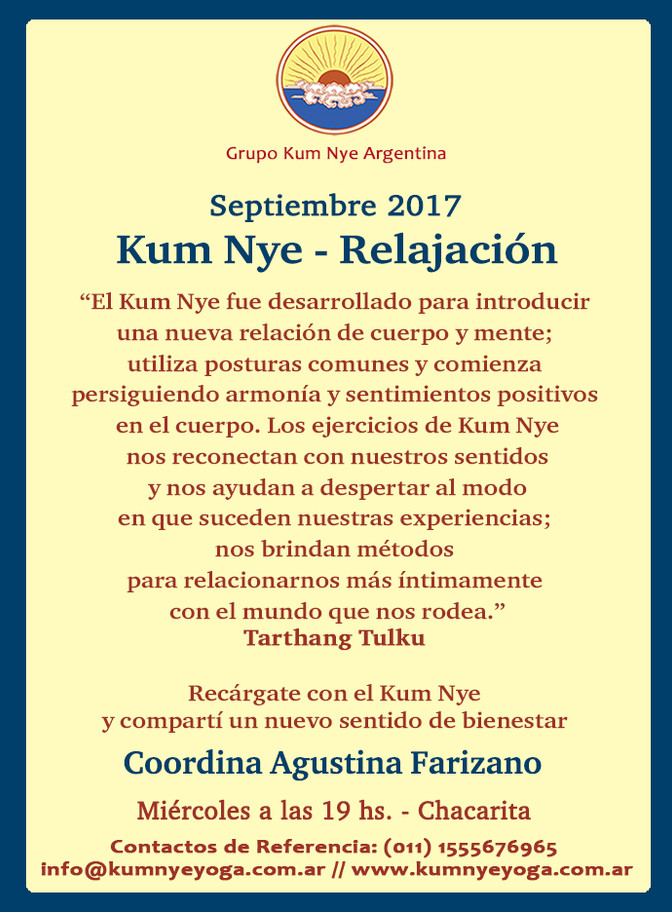 Kum Nye - Relajación en Chacarita • Septiembre 2017