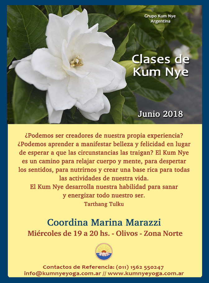Clases de Kum Nye en Olivos- Zona Norte • Junio 2018