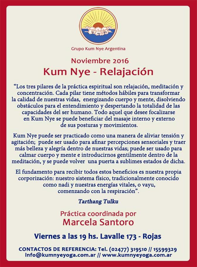 Kum Nye - Relajación en Rojas • Noviembre 2016