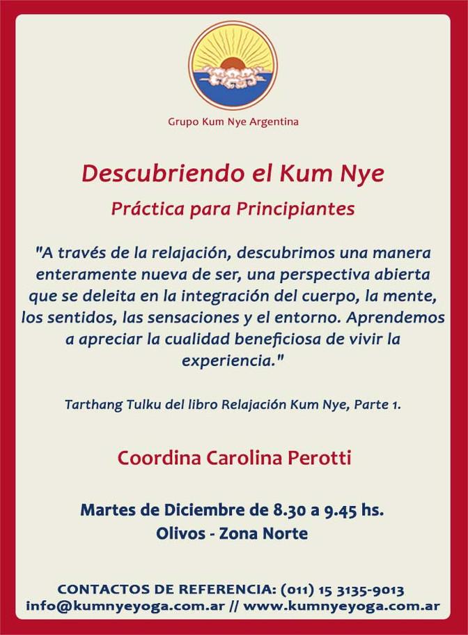Descubriendo el Kum Nye en Olivos - Zona Norte • Diciembre 2016