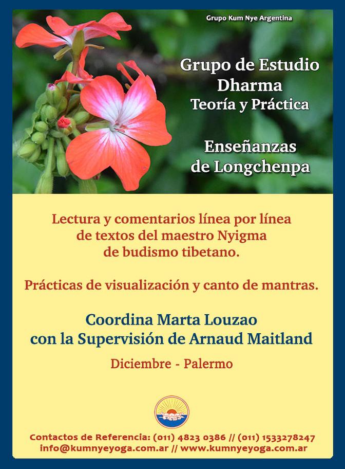 Grupo de Estudio Dharma - Teoría y Práctica - Enseñanzas de Longchenpa - Diciembre de 2018